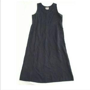 Flax Womens Dress Linen Sleeveless Pockets Maxi